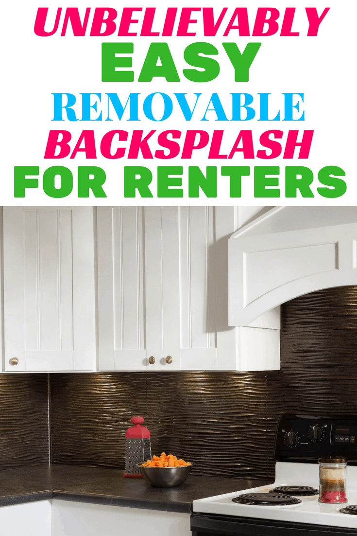 This backsplash is so easy anyone can do it! It's perfect for renters because it is removable. Only takes a few minutes to put up and looks amazing!