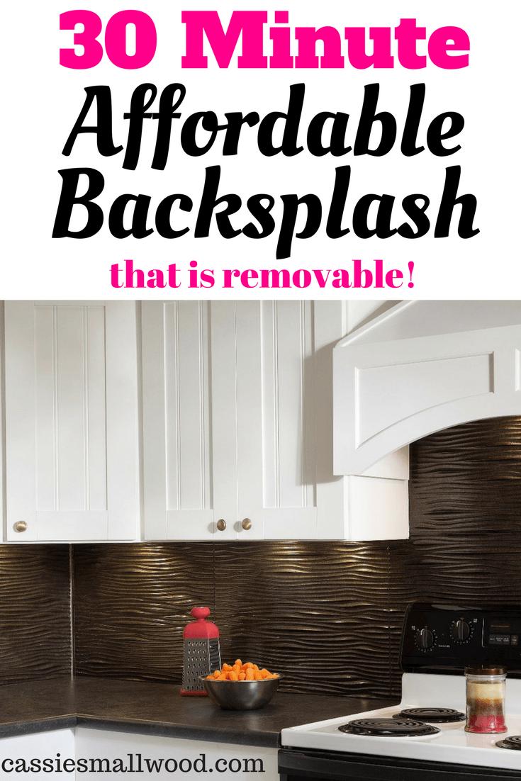 Easy Frugal Backsplash Idea For Renters ~ Cassie Smallwood