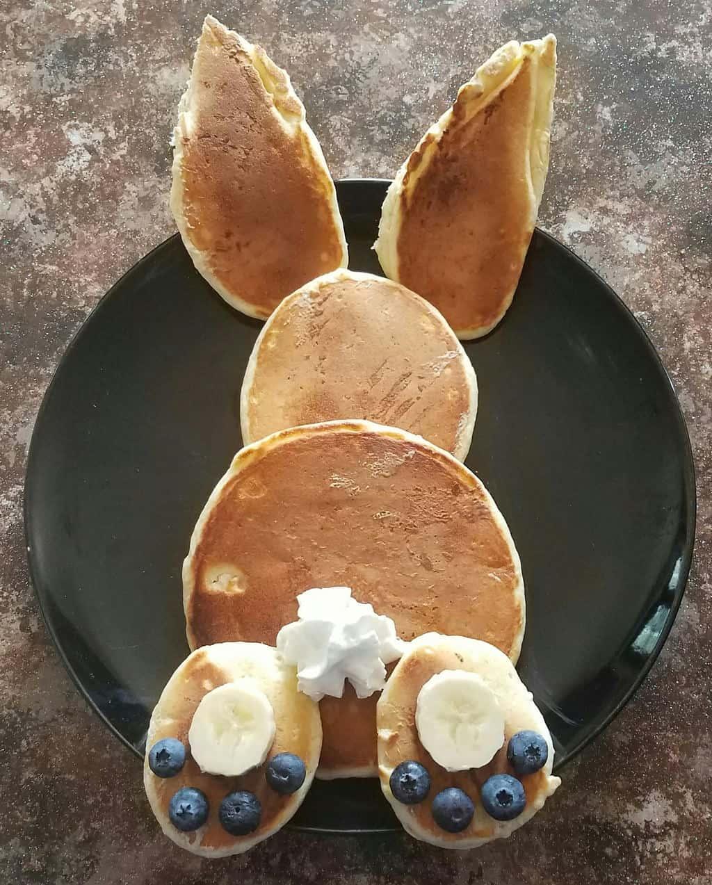 Easy Easter Breakfast For Kids Bunny Butt Pancakes