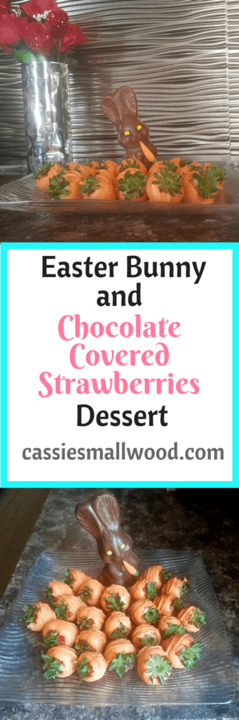 This chocolate covered strawberries and bunny recipe will be a crowd-pleaser for your Easter dinner dessert. Check it out!