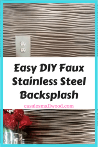 This DIY faux stainless steel backsplash is so easy to install, you won't believe it. Perfect for a kitchen remodel or for renters who need a removable stainless steel backsplash option.