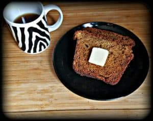 DIY Moist Banana Bread recipe.  Perfect for breakfast or a snack.  The best, easiest recipe for banana bread.  The hard part is not eating the whole thing!