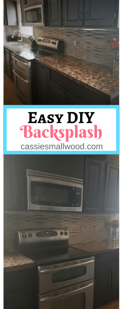 This DIY backsplash is the perfect home decorating project for people on a budget, in a temporary home, or who just want an easy backsplash option.  See just how simple it is!