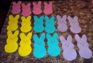 This DIY Easter Peeps Bunny Bunting Banner is an easy home decorating project for the holiday. No sewing involved in this craft project! See how you can do it too!