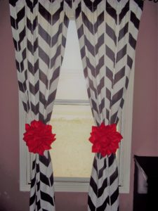 Dahlia Flower Curtain Tie Backs Easy DIY
