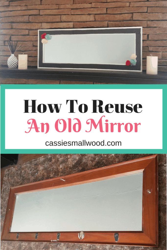How to reuse an old mirror to create a new, modern piece of home decor. Create your own style with this tutorial. Works great for farmhouse fixer upper style decorations.
