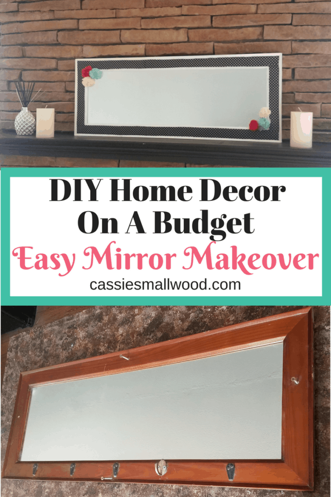 Anyone can do this easy DIY upcycled mirror makeover. Home decorating made easy!