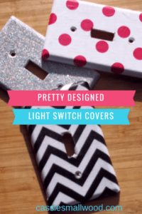 These quick and easy DIY light switch covers are inexpensive and will make your room look custom.  Create any style you like for any room in your home.  Decorating made easy!