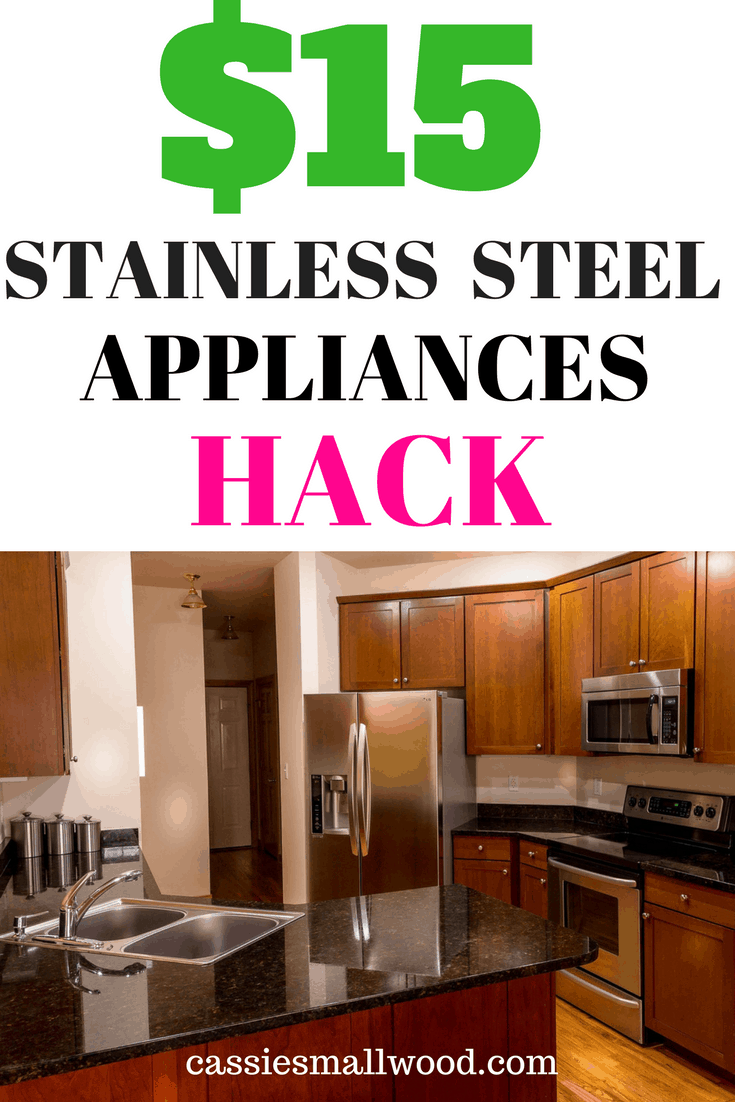 This $15 hack can turn your old appliances into beautiful stainless steel appliances. Anyone can do it!