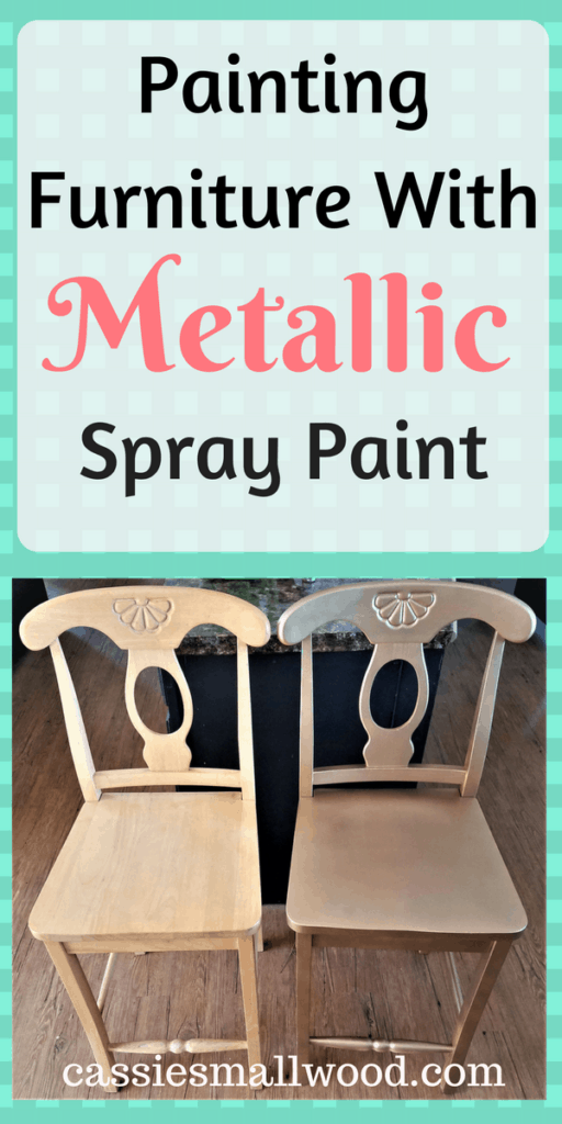 I'll show you how to use metallic spray paint for furniture. My techniques for spray painting wood furniture are so simple! Spray painting is one of the easiest way to paint furniture.