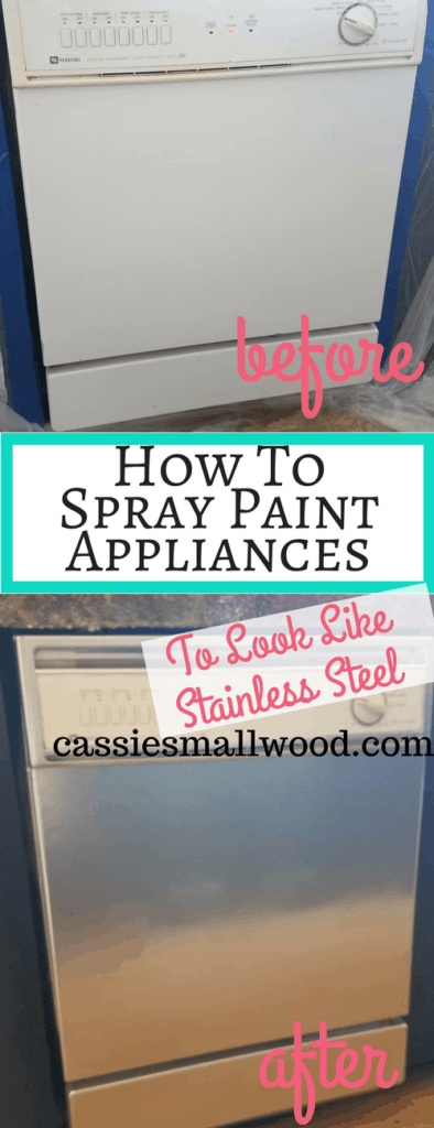 How To Spray Paint Appliances To Look Like Stainless Steel