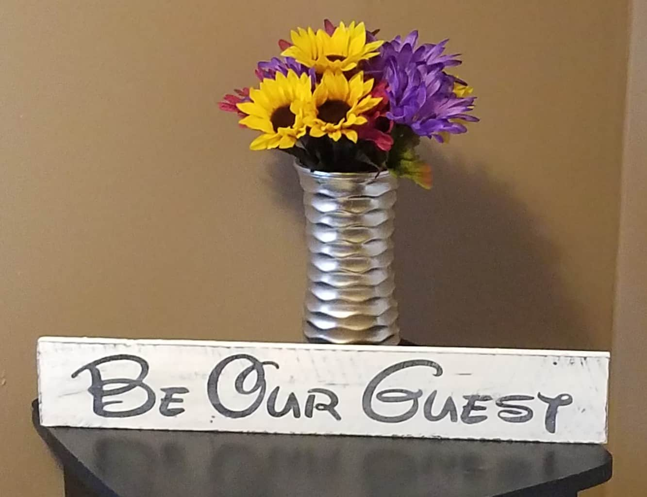3 ways to make diy painted wood signs cassie smallwood for What kind of paint to use on kitchen cabinets for flower mirror wall art