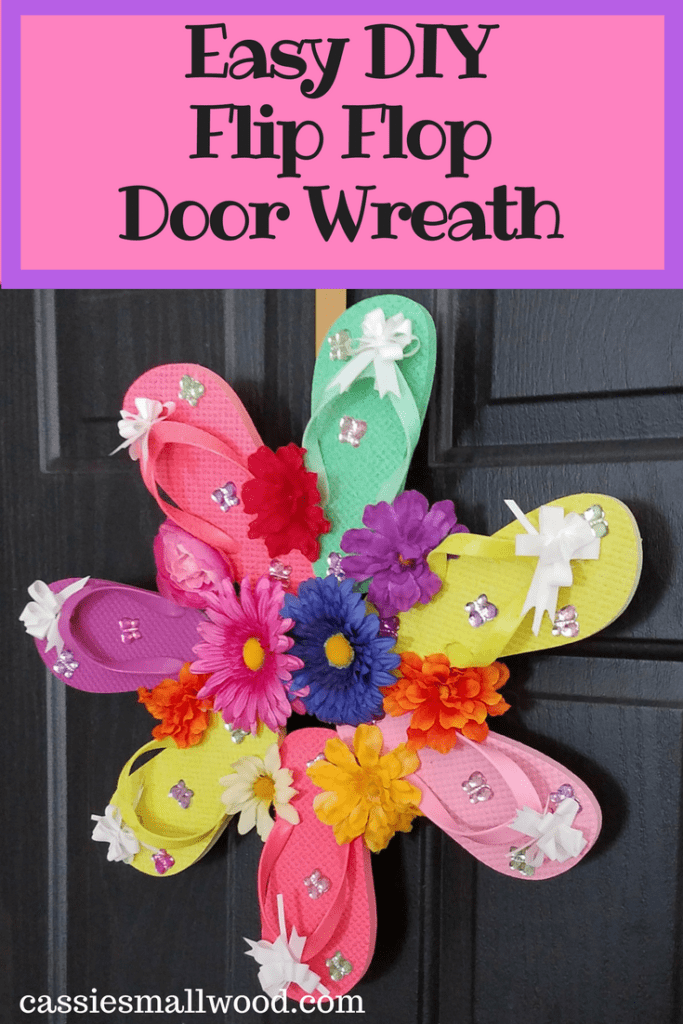 See How Easy It Is To Make This Flip Flop Door Wreath S A Great