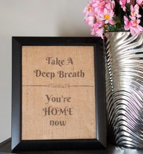 How To Make Burlap Signs With Free Printable Wall Art