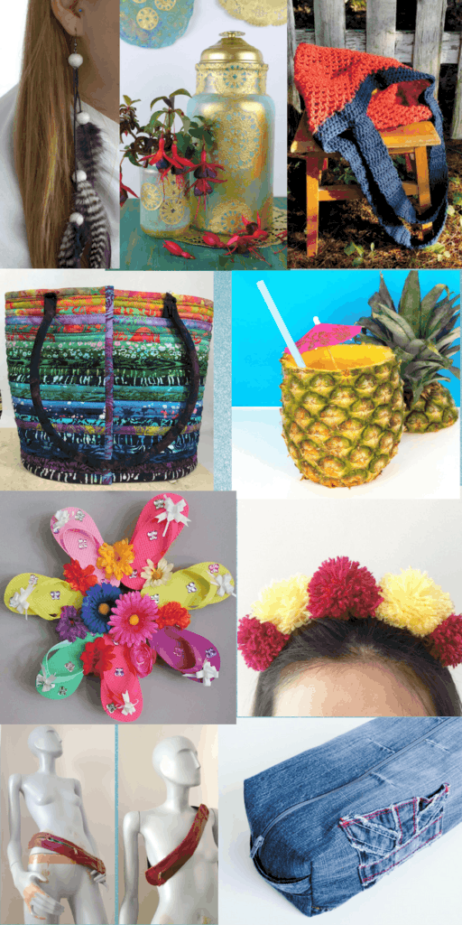 Summer Festival DIY Blog Challenge. Great ideas for summer crafts for kids and adults