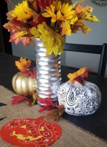 DIY Fall Decor Bandana Pumpkin