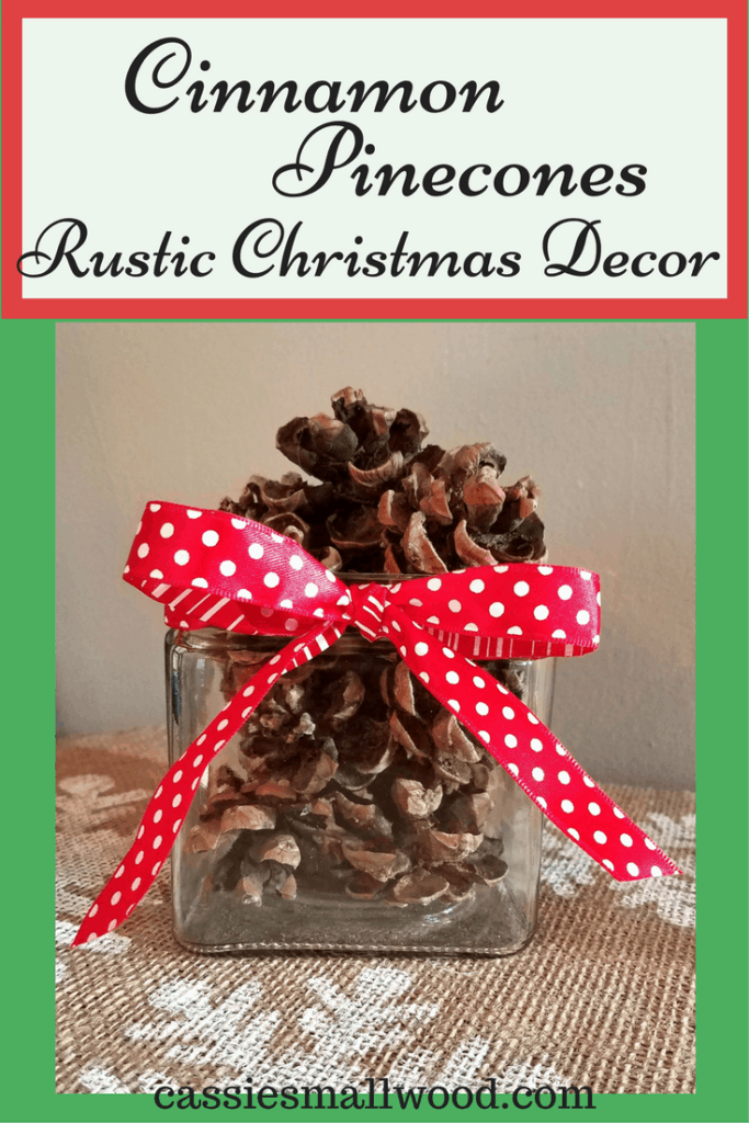 These cinnamon pinecones are so easy to make. Your house will smell like Christmas and you'll have a little rustic Christmas decor too!