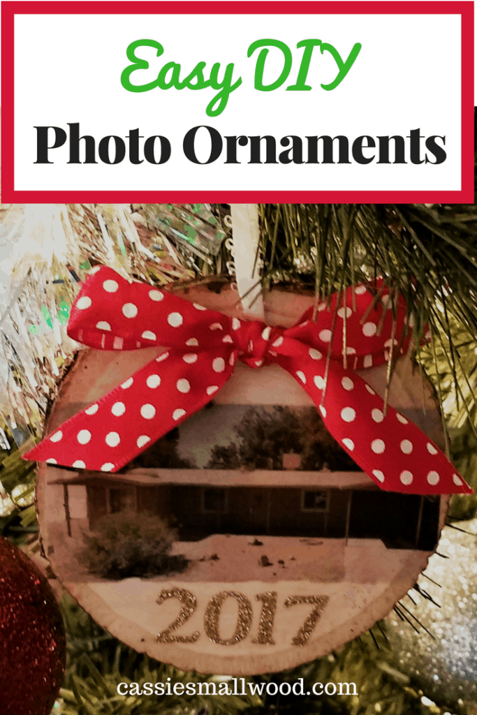 These DIY Christmas ornaments make the perfect personalized gift for a couple or family. Easy to make with any picture!