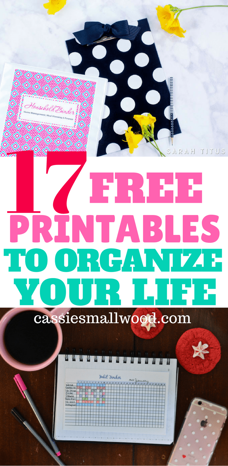 The best free printables to help you organize your home and life! You have to see the amazing ideas for home decorating and organization!
