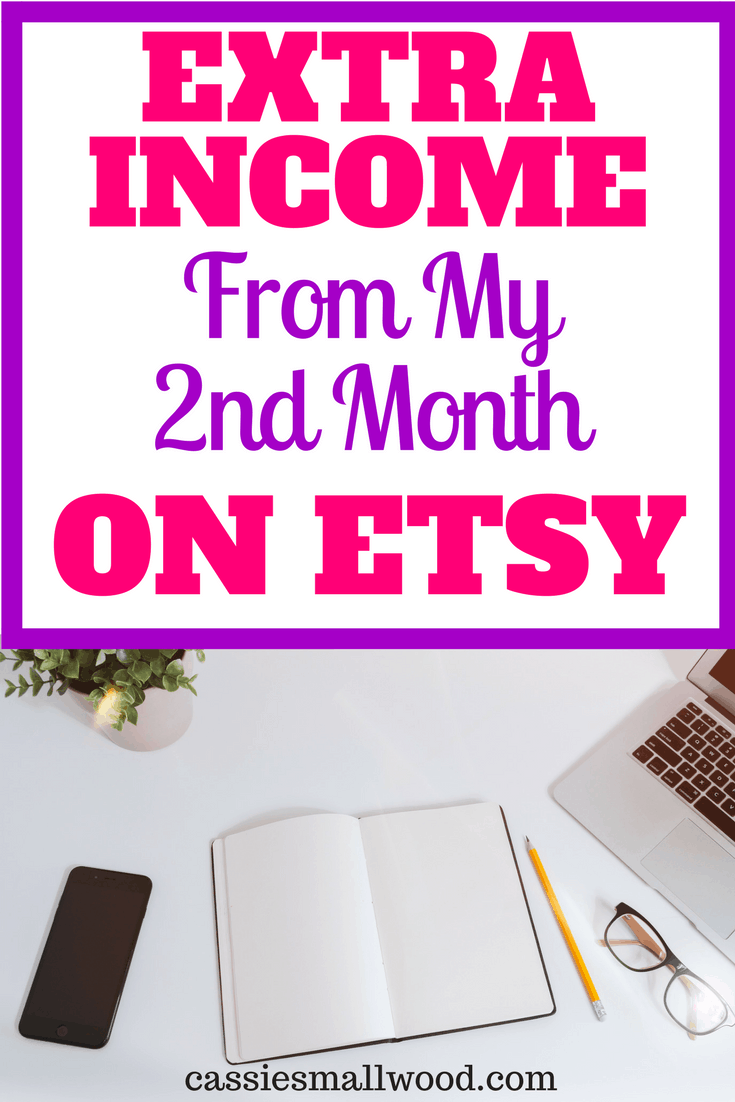 I share how I made extra Etsy income from my 2nd month of opening my Etsy shop. Struggles and successes that Etsy sellers face.