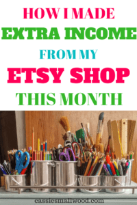 Etsy Shop Income And Goals January 2018