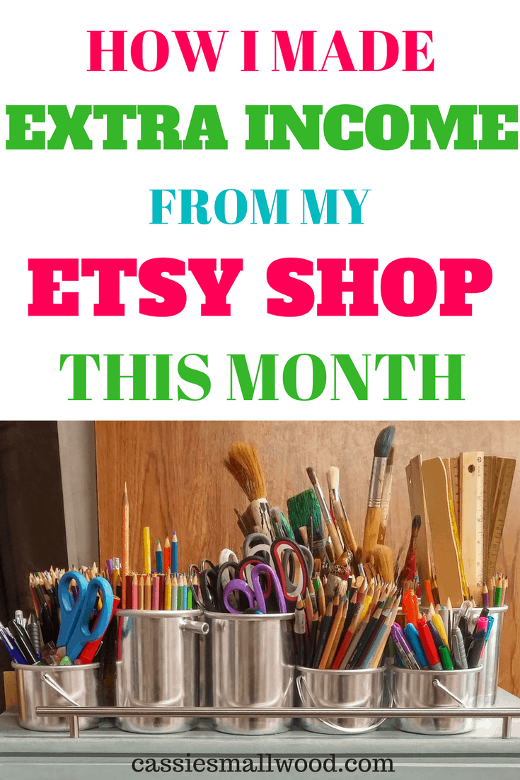 Etsy shop income selling on Etsy this month. I share my struggles and successes of running an Etsy shop.