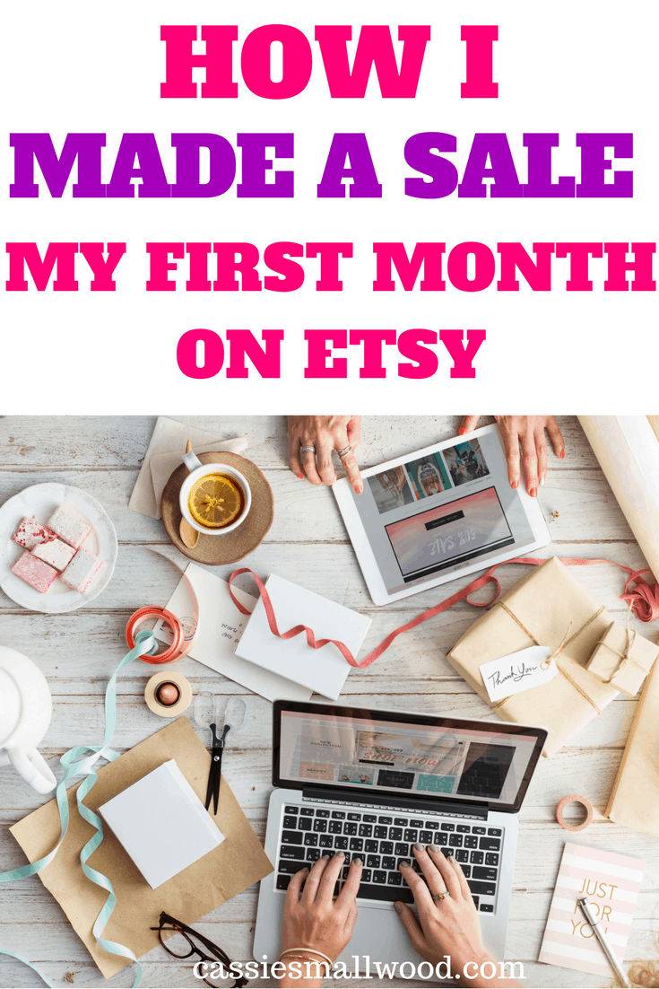 How I made a sale my first month on Etsy. I share my successes and failures as well as a monthly income report.