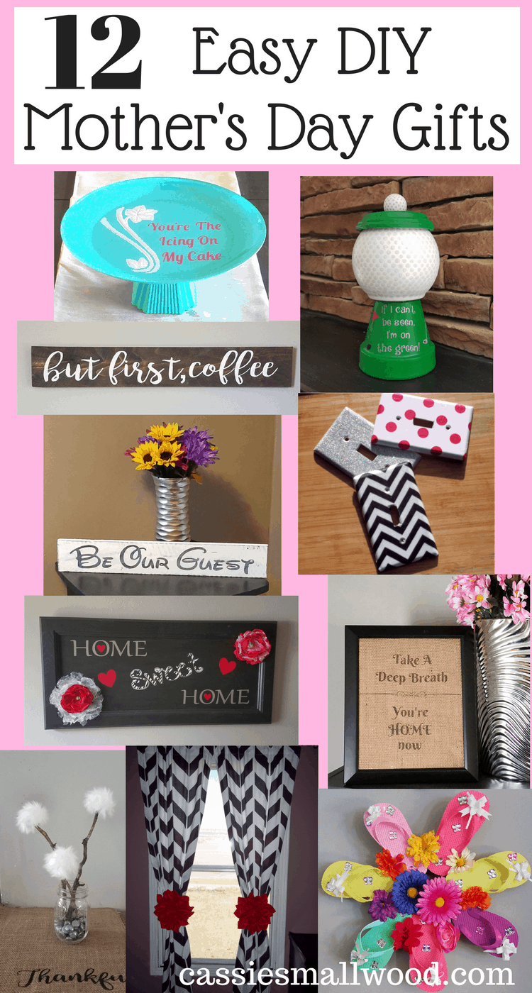 DIY Mother\'s Day craft gifts from daughter ~ Cassie Smallwood