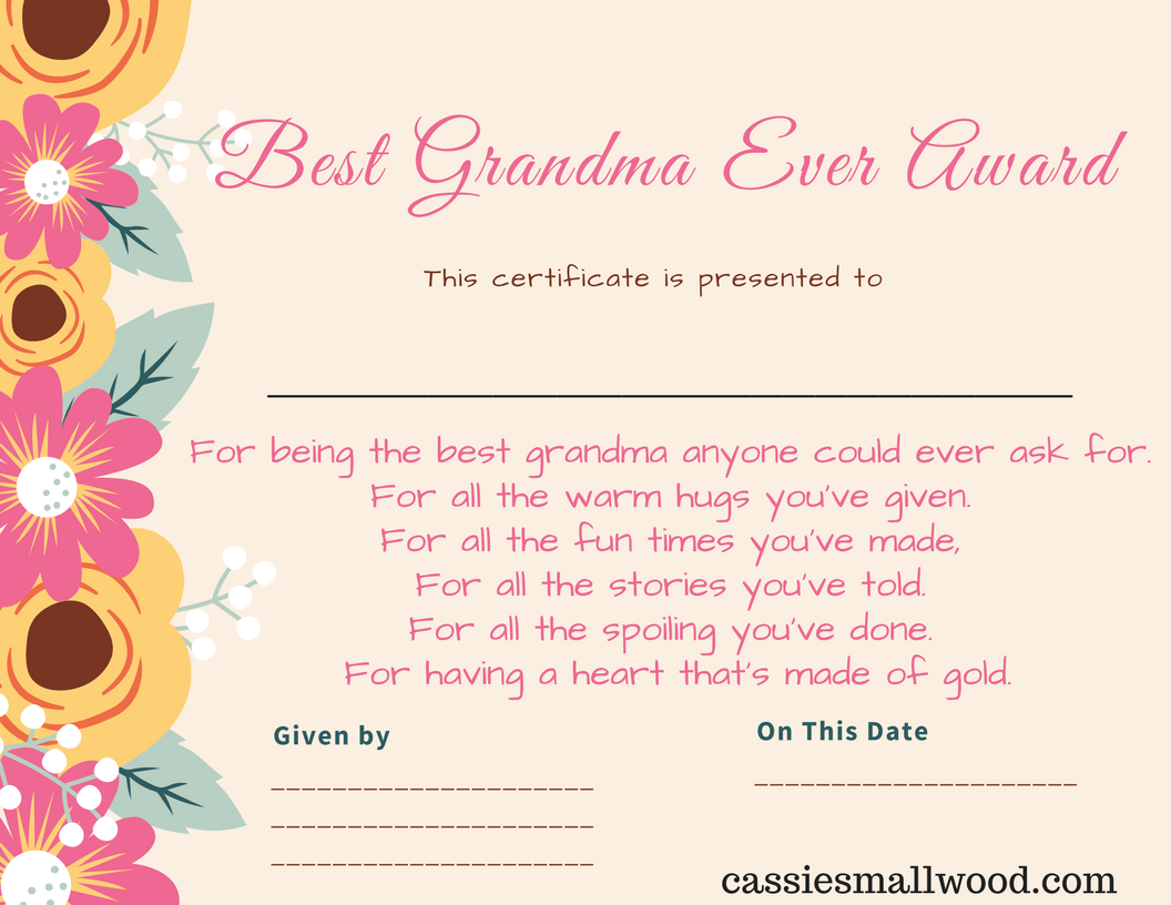 Free Mother S Day Printable Certificate Awards For Mom And