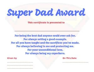 photograph about Superhero Certificate Printable identify Superhero Father Certification ~ Cie Smallwood