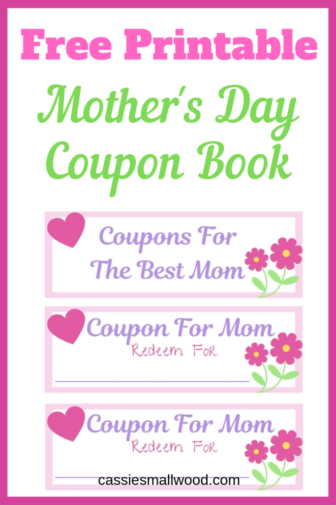 How To Make A Tear Out Coupon Book For Mother S Day Cassie Smallwood