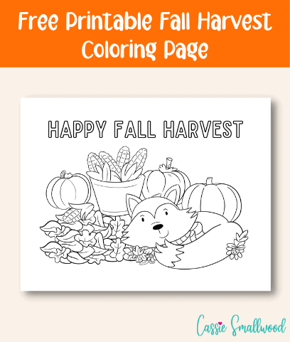 Cute Happy Thanksgiving Coloring Pages Free Printable Cassie Smallwood